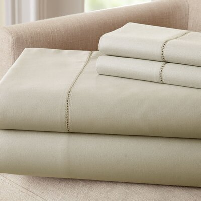 1500 Thread Count Rich Solid Sheet Set Size: King, Color: Linen