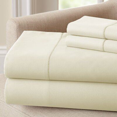 1500 Thread Count Rich Solid Sheet Set Size: Queen, Color: Ivory