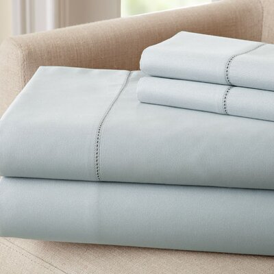 1500 Thread Count Rich Solid Sheet Set Size: King, Color: Sky Blue