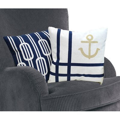 Nautical Cotton Throw Pillow