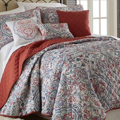 Donna 6 Piece Quilt Set Size: Queen