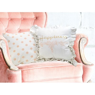 Shabby 2 Piece Cotton Throw Pillow