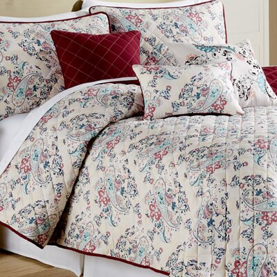 Samantha 6 Piece Quilt Set Size: Queen