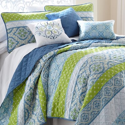 Sheila 6 Piece Quilt Set Size: King