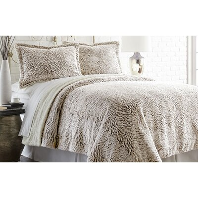 Adreanna 3 Piece Comforter Set Size: Full / Queen, Color: Chocolate