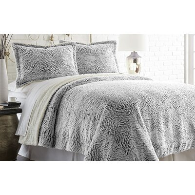 Adreanna 3 Piece Comforter Set Size: Full / Queen, Color: Charcoal