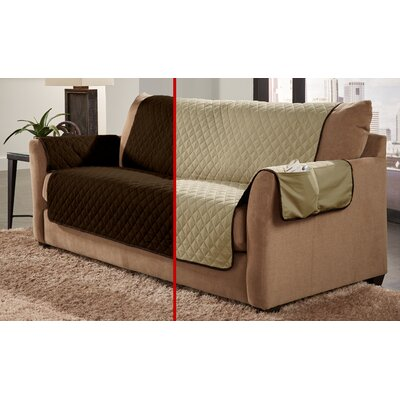 Water Resistant Sofa Slipcover Color: Chocolate/Natural