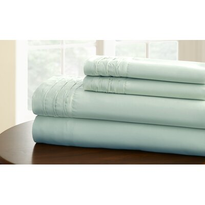 1000 Thread Cotton Count Sheet Set Size: California King, Color: Misty Blue