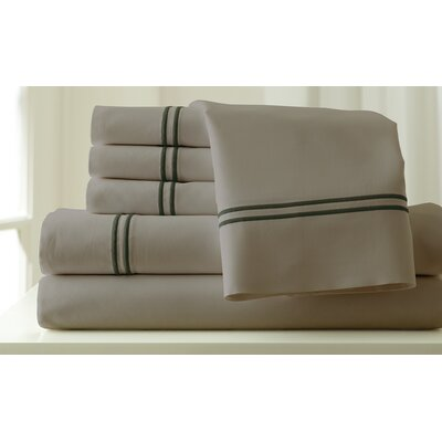 Italian Hotel 1000 Thread Count Sheet Set Color: Silver & Graphite, Size: Full