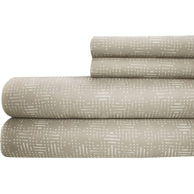 Printed Sheet Set Size: Queen, Color: Taupe