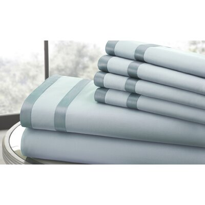 1000 Thread Count Sheet Set Size: Full, Color: Sterling Blue