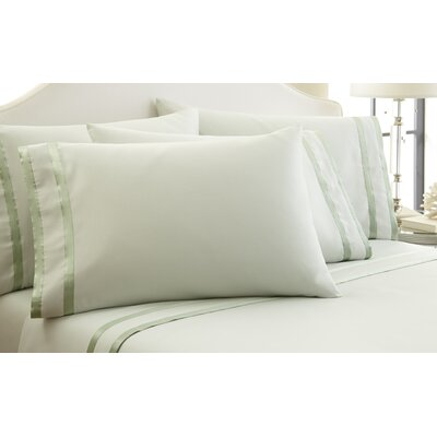 1000 Thread Count Sheet Set Size: Queen, Color: Soft Jade/Dark Jade