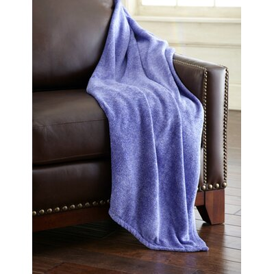 Heathered Solid Fleece Throw Blanket Color: Blue