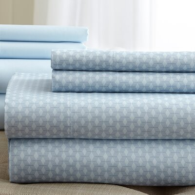 Solid Sheet Set Size: Queen, Color: Blue