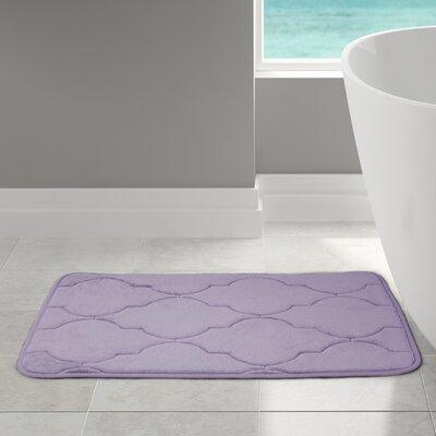 Edwin Bath Rug Size: 21 W x 34 L, Color: Gray Lavender