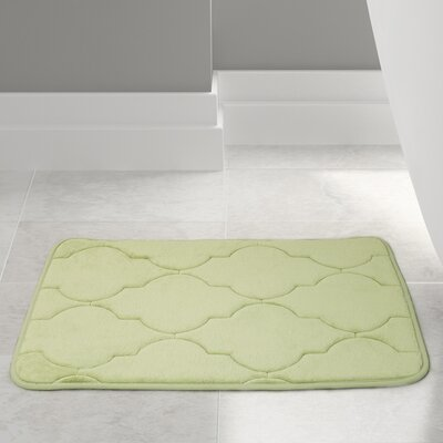 Edwin Bath Rug Size: 21 W x 34 L, Color: Green