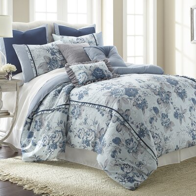 Brass Work 8 Piece Comforter Set Size: Queen