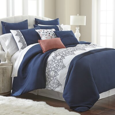 Brassiewood 8 Piece Comforter Set Size: Queen