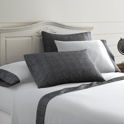 Bloomberg Printed Sheet Set Size: Queen, Color: Charcoal