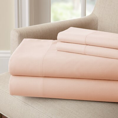 Lasalle 300 Thread Count Sheet Set Size: Full, Color: Blush