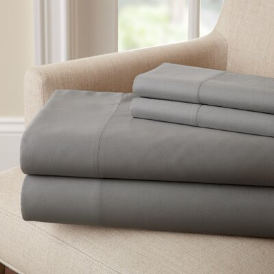 Lasalle 300 Thread Count Sheet Set Size: Twin, Color: Charcoal