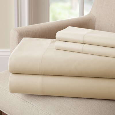 Lasalle 300 Thread Count Sheet Set Size: King, Color: Oatmeal