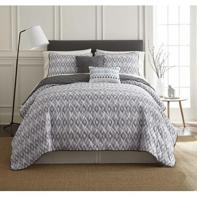 Duggins 5 Piece Reversible Quilt Set Size: King