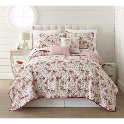 Raven 5 Piece Reversible Quilt Set Size: Queen