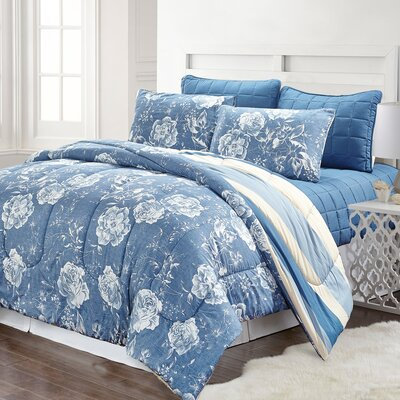 Knauss 6 Piece Reversible Comforter Set Size: Queen