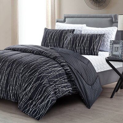 Jefferson 6 Piece Reversible Comforter Set Size: Queen