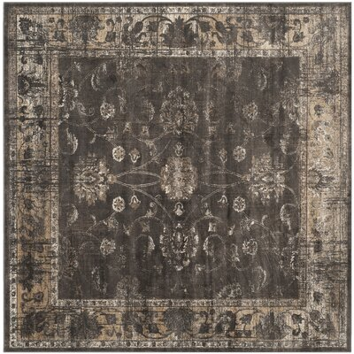 Rindge Soft Anthracite Area Rug Rug Size: Square 8
