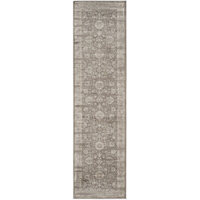 Rindge Brown/Ivory Area Rug Rug Size: Runner 22 x 8