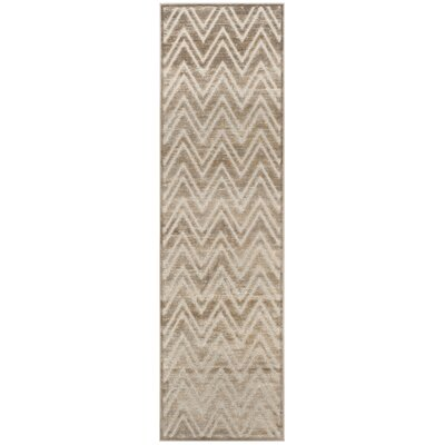 Gabbro Brown/Ivory Area Rug Rug Size: Runner 22 x 8