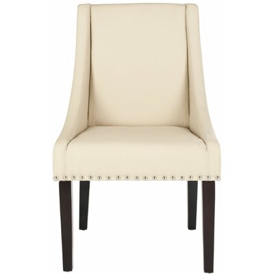 Flossmoor Upholstered Dining Chair Color: Cream With Studs