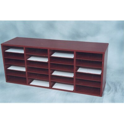 24 Compartment Laminate Literature Organizer Finish: Medium Oak