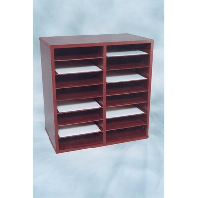 16 Compartment Laminate Literature Organizer Finish: Mahogany