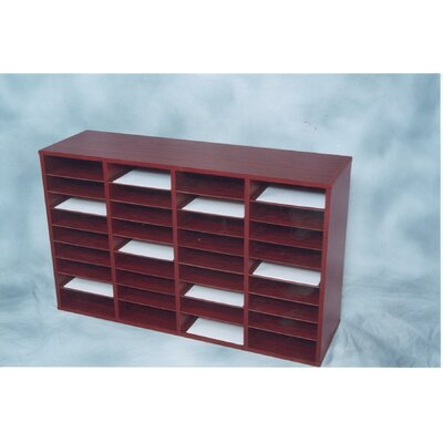 36 Compartment Laminate Literature Organizer Finish: Mahogany