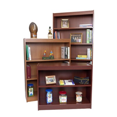 "NORSONS INDUSTRIES LLC Essentials Laminate Series Bookcase - Finish: Cherry, Size: 84"" H x 36"" W x 12"" D"