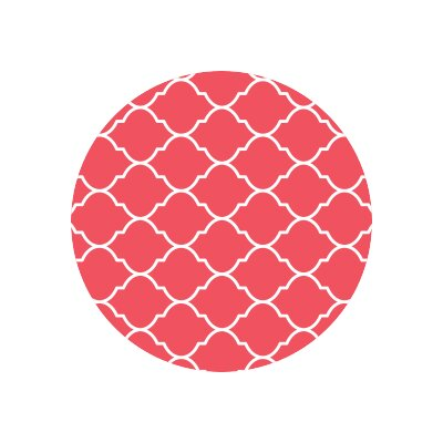 Matz Selenna Plant Doormat Mat Size: Round 10, Color: Red