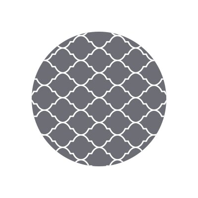 Matz Selenna Plant Doormat Rug Size: Round 10, Color: Gray
