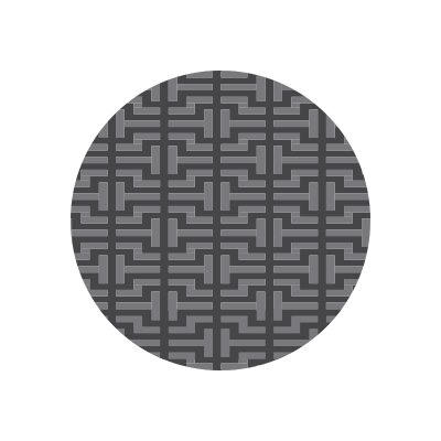 Matz Alba Plant Doormat Rug Size: Round 10