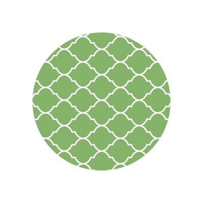 Matz Selenna Plant Doormat Rug Size: Round 10, Color: Green
