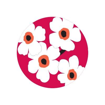 Matz Fiori Flower Doormat Rug Size: Round 12