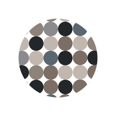 Matz Binya Dot Doormat Mat Size: Round 12