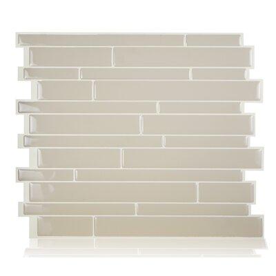 "Mosaik Maheshwari Crema 11.55"" x 9.63"" Peel & Stick Mosaic Wall Tile in Beige SM1084-0"