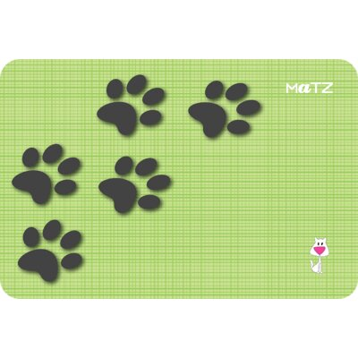 Matz Bella Paw Prints 12 x 18 Peel and Stick Doormat