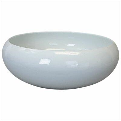 Circular Vessel Bathroom Sink Finish: White Glaze