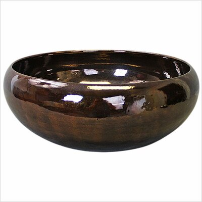 Circular Vessel Bathroom Sink Finish: Bronze Glaze