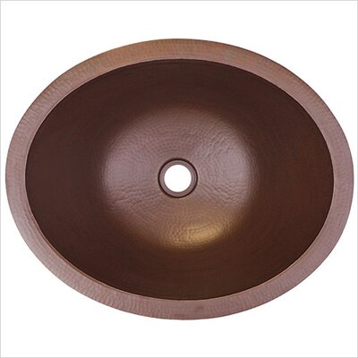 Small Oval Undermount Bathroom Sink Finish: Dark Bronze