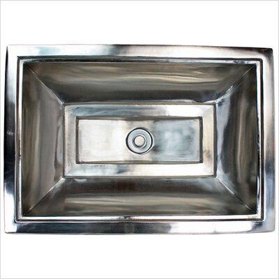 Vintage Metal Rectangular Drop-In Bathroom Sink Finish: Polished Nickel